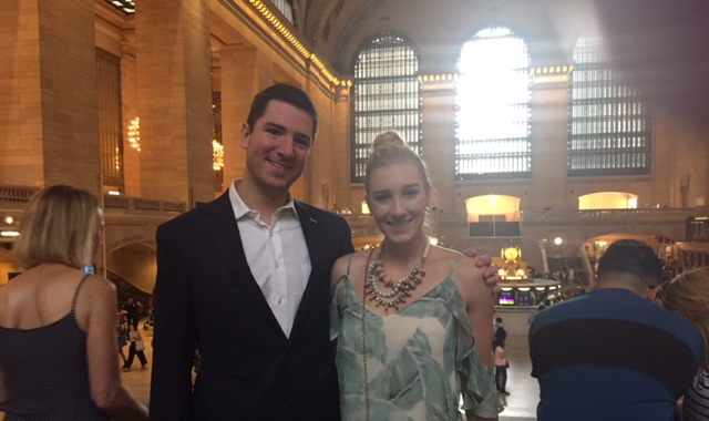 John and I at Grand Central Station. As you can tell by my outfit, we did a lot this morning!