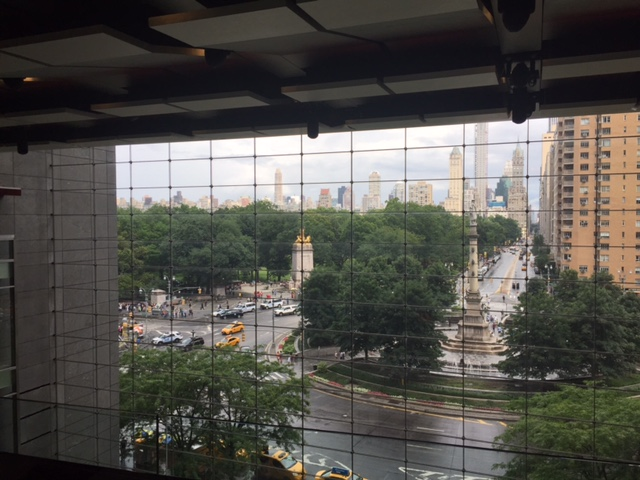 View from Per Se. That is Columbus Circle. We tried to take a photo here but we couldn't get the background and us. Oh well. It sure was beautiful!